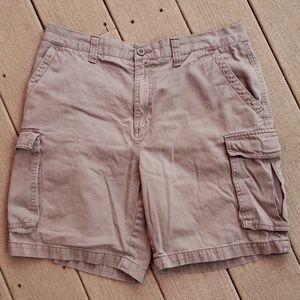Croft and Barrow Tan Khaki Cargo Shorts